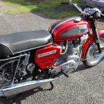 BSA Rocket 111 - 1969 - Right Side View, Seat, Gas Tank and Side Panel.