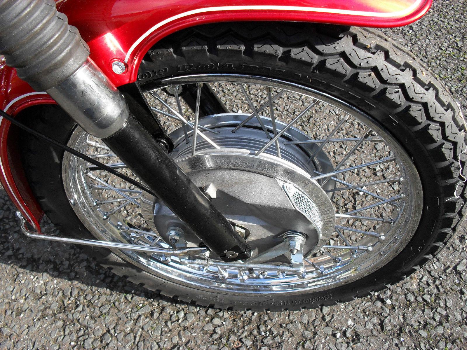 BSA Rocket 111 - 1969 - Front Forks, Front Wheel Hub and Front Brake.