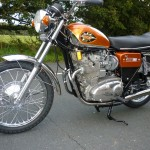BSA Rocket 3 - 1971 - Front Mudguard, Front Wheel, Frame Down Tubes, Headlight and Flashers.