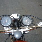 BSA Rocket 3 - 1971 - Steering Damper, Speedo, Tacho, Headlight and Bars.