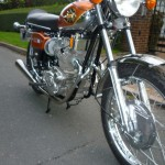 BSA Rocket 3 - 1971 - Engine, Headers, Front Wheel, Front Mudguard and Drum Brake.