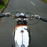 BSA Rocket 3 - 1971 - Fuel Tank, Handlebars, Clocks and Grips.