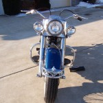 Harley-Davidson FLH Duo Glide - 1960 - Font Fender, Chrome Fender tip and Tyre.