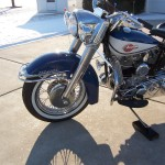 Harley-Davidson FLH Duo Glide - 1960 - Front Wheel, Front Forks, Front Fender and Headlight.