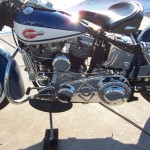 Harley-Davidson FLH Duo Glide - 1960 - Transmission Case, Foot Board, Oil Tank and Motor.