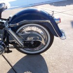 Harley-Davidson FLH Duo Glide - 1960 - Chain Guard, Rear Wheel, Spokes and Shock Absorber.