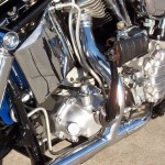 Harley-Davidson FLH Duo Glide - 1960 - Oil Tank, Transmission, Kick Start, Exhaust Header and Shock.