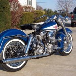 Harley-Davidson FLH Duo Glide - 1960 - Rear Wheel, Stainless Spokes, Muffler. Cylinders and Gearbox.
