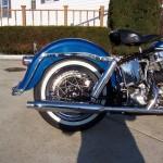 Harley-Davidson FLH Duo Glide - 1960 - Rear End, Fender, Muffler, Seat and Rear Wheel.