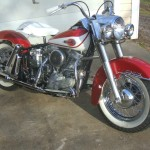 Harley-Davidson Panhead - 1960 - Frame, Wheels, Fuel Tank, Handlebars and Grips.