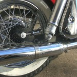 Harley-Davidson Panhead - 1960 - Rear Wheel, Spokes, Muffler and Rear Hub.