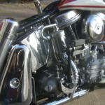Harley-Davidson Panhead - 1960 - Oil Tank, Motor, Rear Shock and Air Filter.