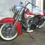Harley-Davidson Panhead - 1960 - Forks, Wheel, Fender and Lights.
