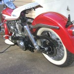 Harley-Davidson Panhead - 1960 - Rear Fender, Rear Shock, Seat and Transmission.