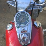 Harley-Davidson Panhead - 1960 - Speedo, Gas Tank, Filler Cap and Ignition Switch.