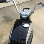 Honda CA160 Dream - 1966 - Fuel Tank, Filler Cap, Handlebars, Cables and Speedometer.