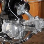 Honda Super 90 - 1965 - Carburettor, Motor, Spark Plug and Brake Pedal.