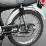 Honda Super 90 - 1965 - Seat, Rear Wheel and Shock Absorber.
