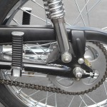 Honda Super 90 - 1965 - Rear Footrest, Chain Guard, Chain and Swing Arm.