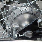 Honda Super 90 - 1965 - Rear Wheel, Hub and Brake Drum.