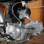 Honda Super 90 - 1965 - Cylinder Head, Carb, Plug Wire, Exhaust and Fuel Tap.