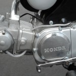 Honda Super 90 - 1965 - Engine, Cylinder Head, Points Cover and Gear Lever.