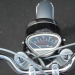 Honda Super 90 - 1965 - Clock, Speedo, Handlebars and Mileage.