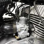 Kawasaki H2 750 - 1975 - Carburettors, air filter and cables.