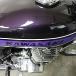 Kawasaki H2 750 - 1975 - Purple gas tank, and engine cases.