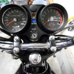 Kawasaki H2 750 - 1975 - Speedo and tacho,, clocks, ignition switch and handlebars.
