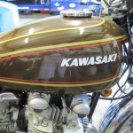 Kawasaki KZ900 - 1976 - Gas Tank, Kawasaki Badge and Fuel Cap.