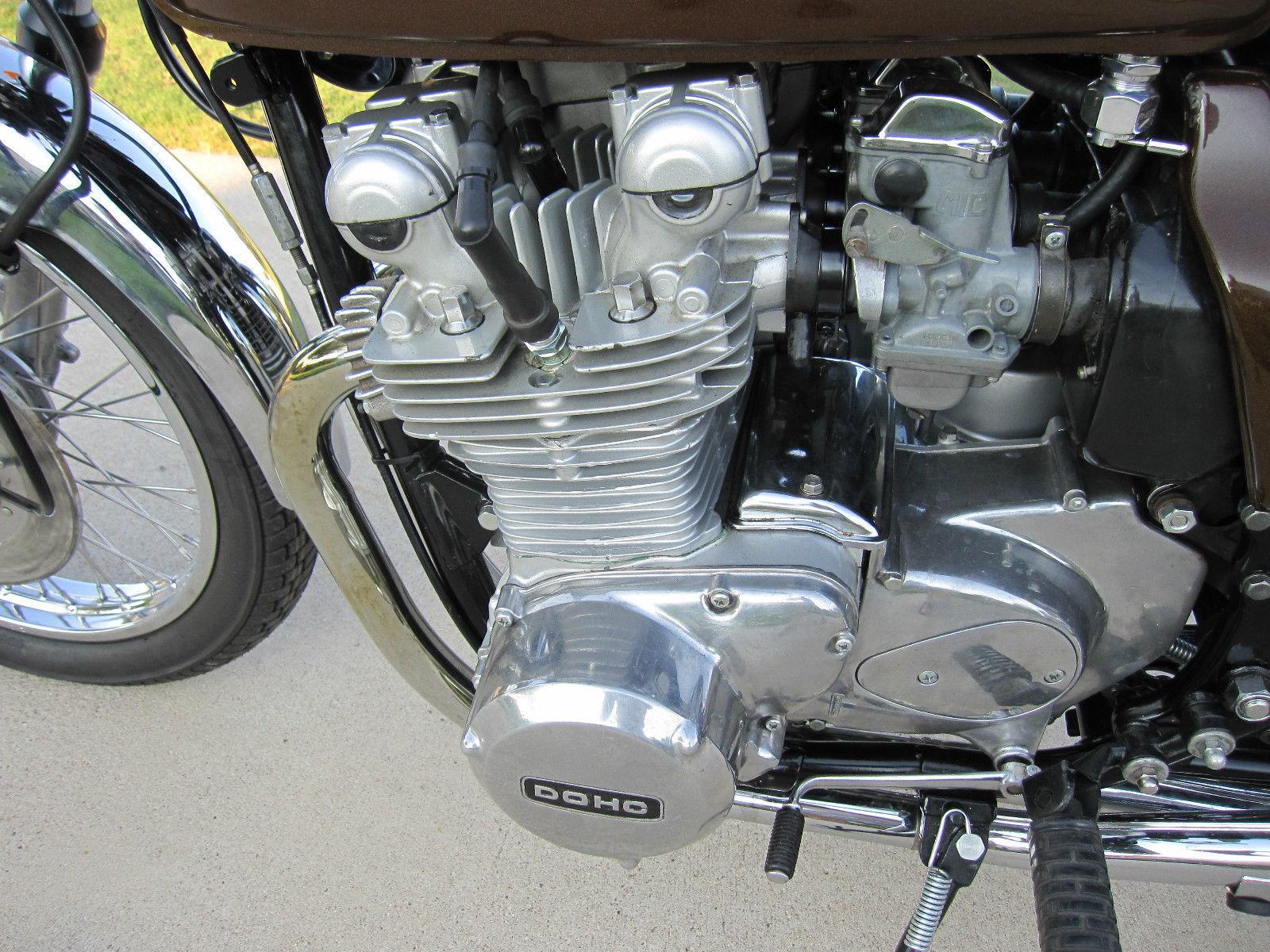 Kawasaki KZ900 - 1976 - Engine Detail, Alternator Cover, Starter Motor Cover and Header.