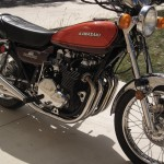 Kawasaki Z1 - 1973 - Gas Tank, Engine and Forks.