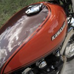 Kawasaki Z1 - 1973 - Gas Tank, Filler Cap and Badge.