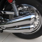 Kawasaki Z1 - 1973 - Chain Guard, Mufflers and Shock.