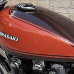Kawasaki Z1 - 1973 - Fuel Tank, Cam Cover and Gas Cap.