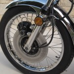 Kawasaki Z1 - 1973 - Front Wheel, Forks, Brake and Reflector.