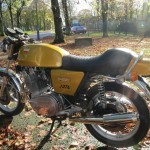 Laverda Jota - 1978 - Left Side, Muffler, Motor, Seat and Shock Absorber.