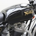 Norton Commando 750 - 1972 - Fuel Tank, Fuel Cap and Norton Decal.