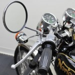 Norton Commando 750 - 1972 - Handlebar Grip, Mirror and Switchgear.