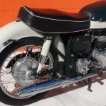 Norton Dominator 88 - 1960 - Seat, Rear Mudguard, Oil Tank and Bracket.