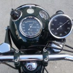 Norton Dominator 88 - 1960 - Head Light, Clocks, Tachometer and Switch.
