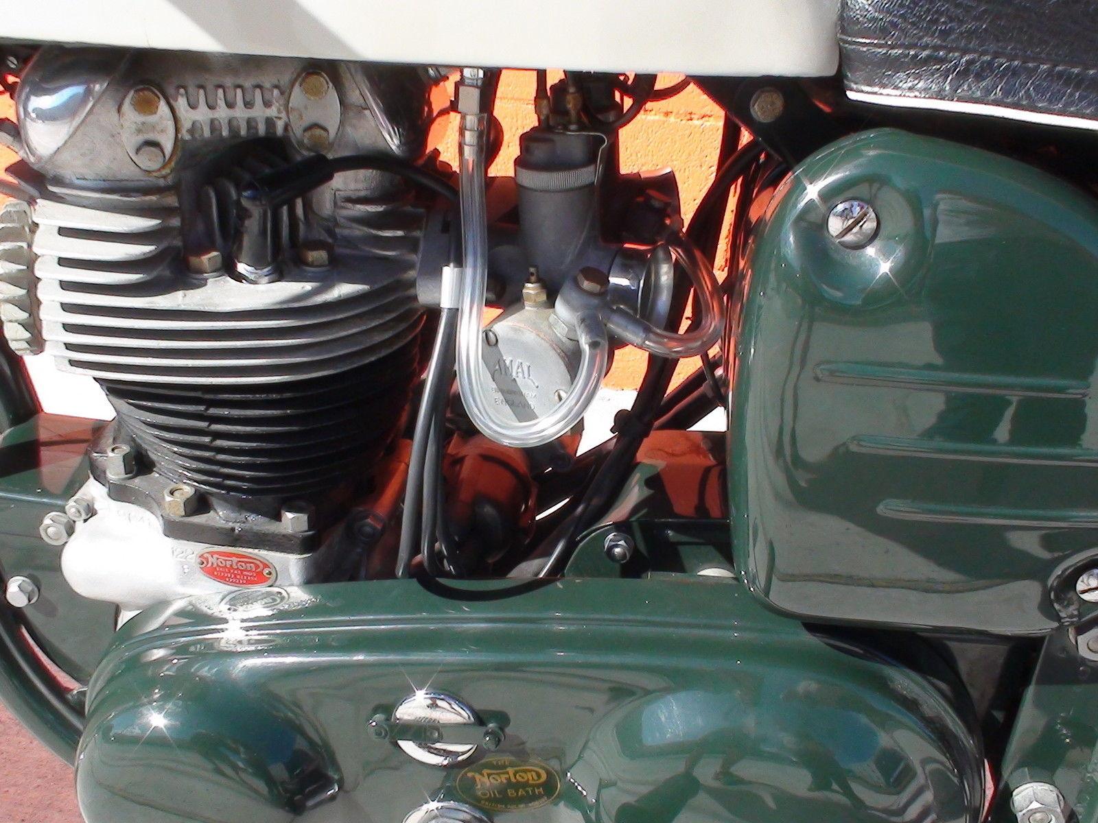Norton Dominator 88 - 1960 - Carburettors, Side Cover and Cylinder.