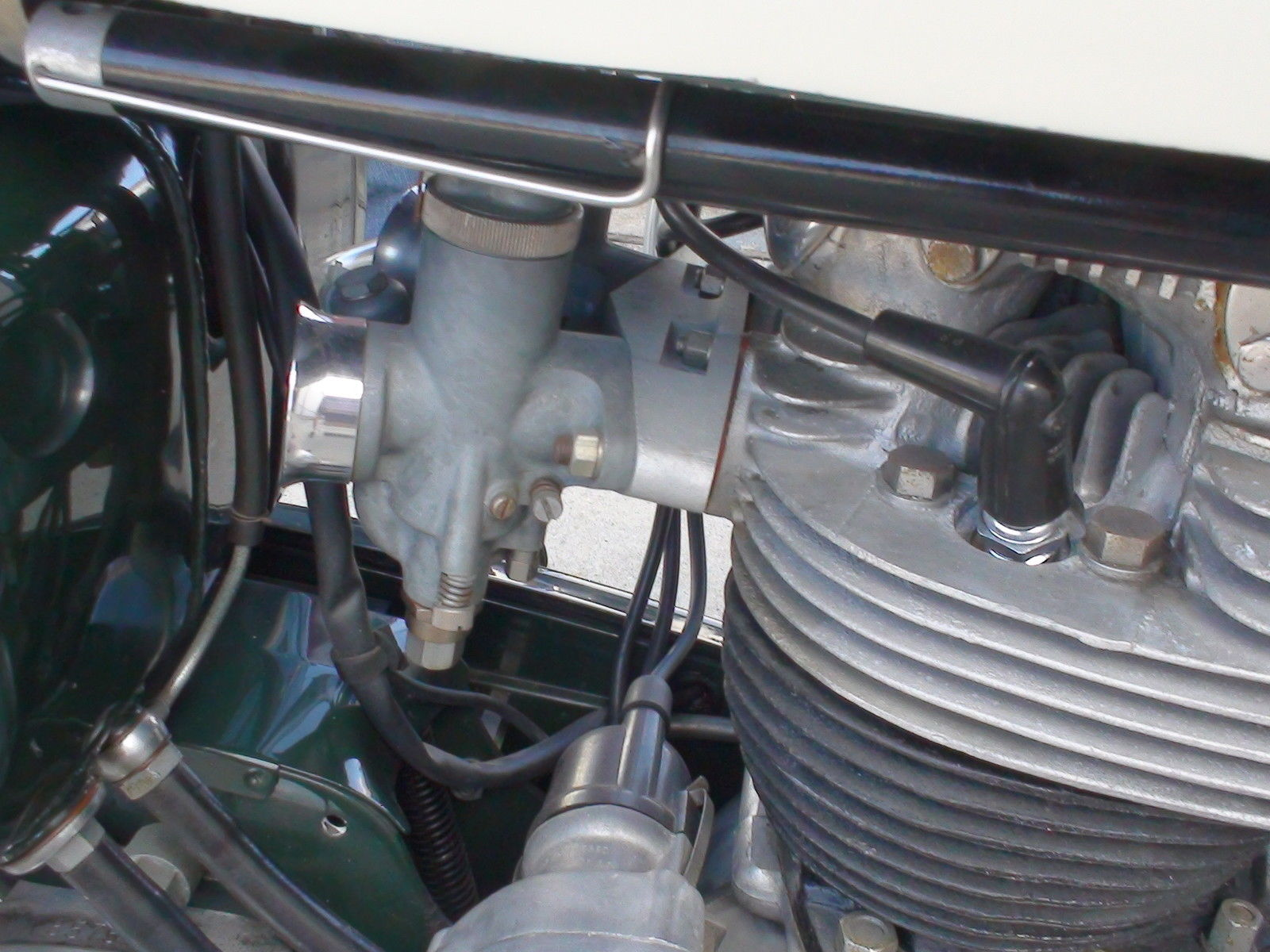 Norton Dominator 88 - 1960 - Dual Sports Carb, Throttle Cable, Spark Plug Cap and Dynamo.