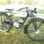 NSU Quick - 1936 - Front Wheel, Fuel Tank, Suspension and Frame.