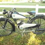 NSU Quick - 1936 - Engine, Fuel Tank, Wheels and Frame.