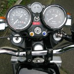 Silk 700S - 1977 - Ignition Switch, Clocks, Speedo, Tacho and Optional Temperature Gauge.