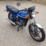 Suzuki GT250X7 - 1979 - Right Side View, Headlight, Indicators and Clocks.