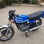 Suzuki GT250X7 - 1979 - Left Side View, Engine, Gas Tank, Seat and Motor.