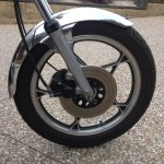 Suzuki GT250X7 - 1979 - Front Wheel, Front Mudguard, Front Disc Brake and Wheel.